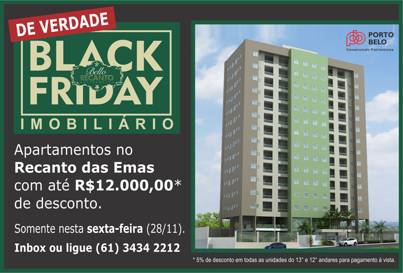 Bello Recanto  Black Friday banner