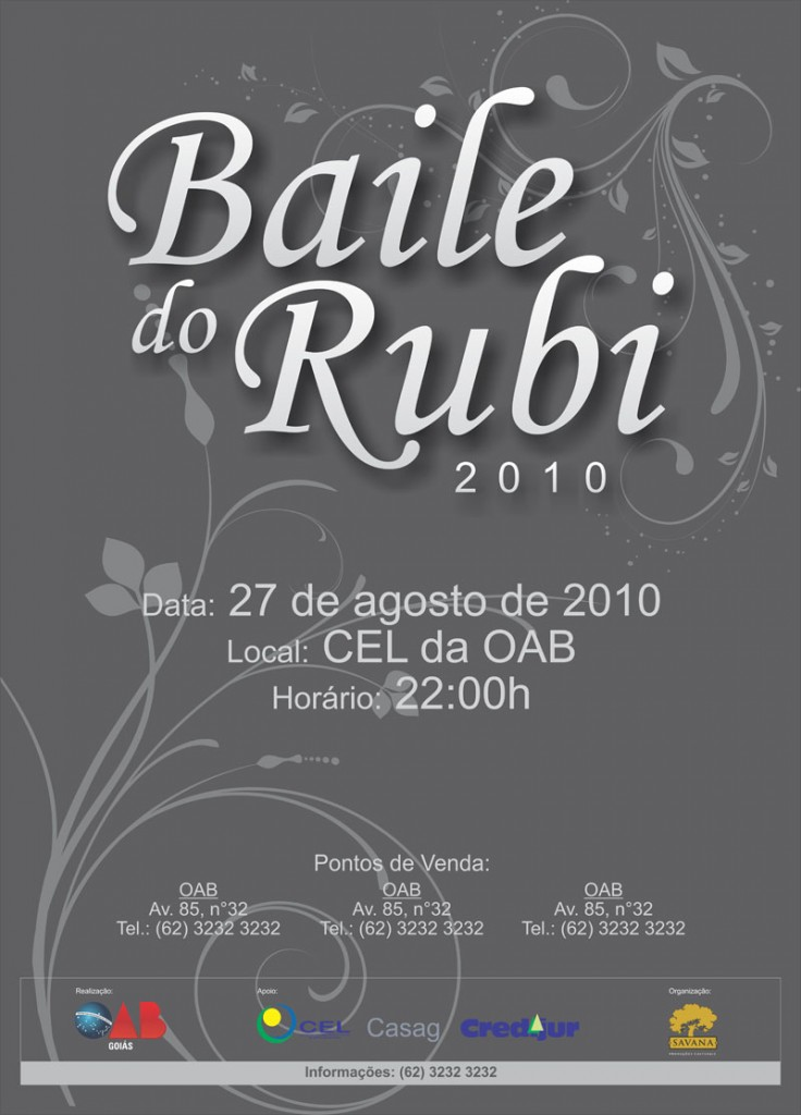 Festa do Rubi Cartaz